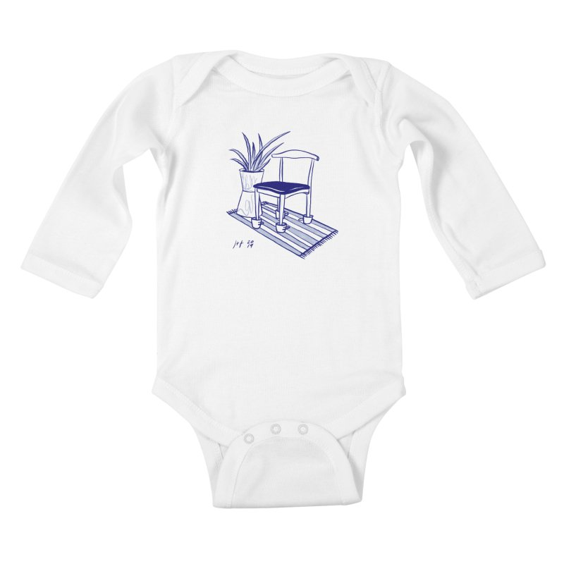 Artist Series 02: Jeremy+Farrah Kids Baby Longsleeve Bodysuit by Design Museum of Chicago