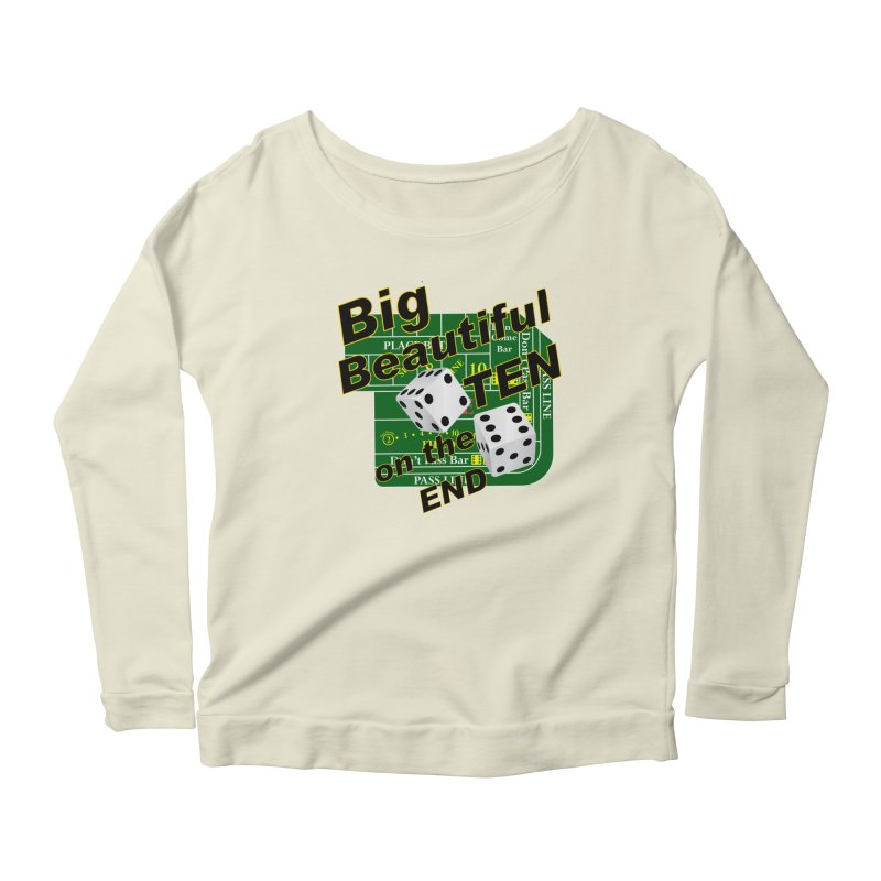 Big Ten Women's Scoop Neck Longsleeve T-Shirt by DesignsbyAnvilJames's Artist Shop