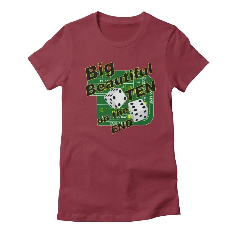 Big Ten Women's Fitted T-Shirt by DesignsbyAnvilJames's Artist Shop