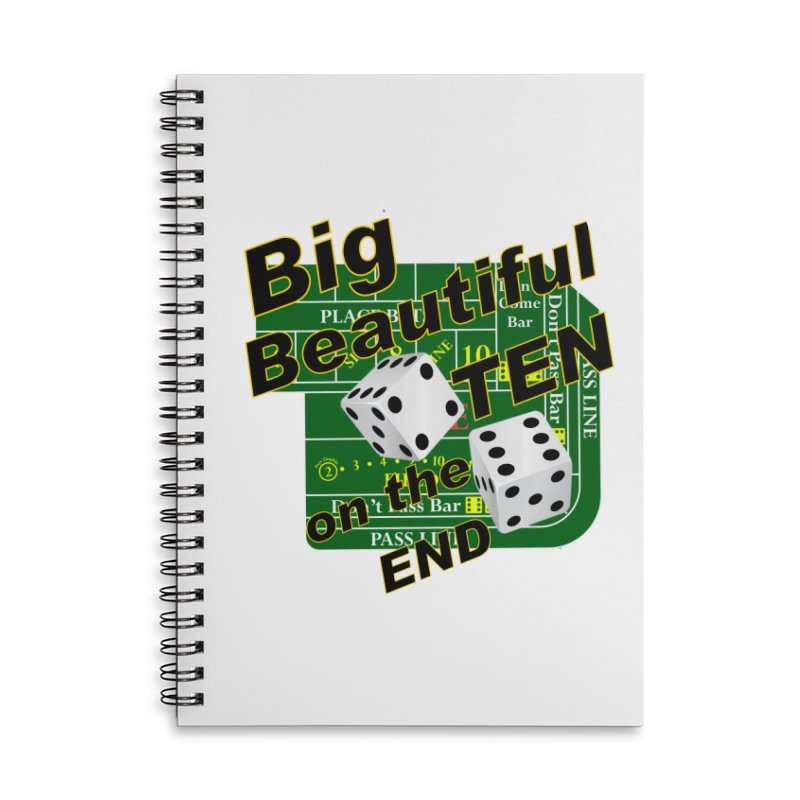 Big Ten Accessories Lined Spiral Notebook by DesignsbyAnvilJames's Artist Shop