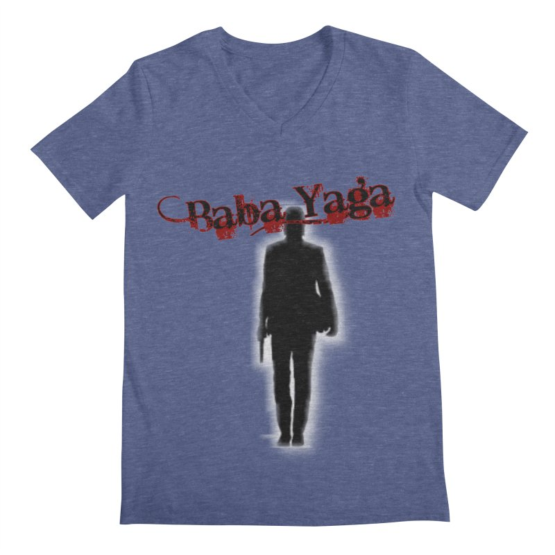 Baba Yaga Men's Regular V-Neck by DesignsbyAnvilJames's Artist Shop