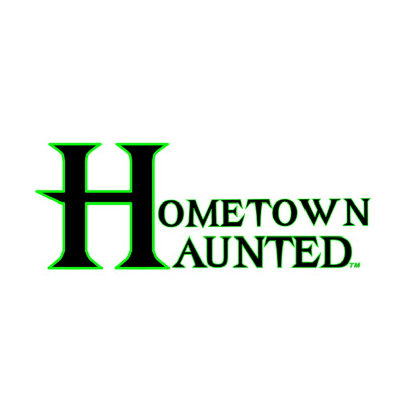 Hometown Haunted (Black) Home Mounted Aluminum Print by DesignsbyAnvilJames's Artist Shop