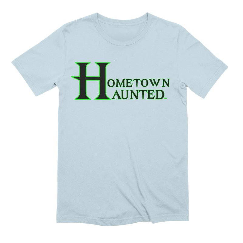 Hometown Haunted (Black) Men's Extra Soft T-Shirt by DesignsbyAnvilJames's Artist Shop