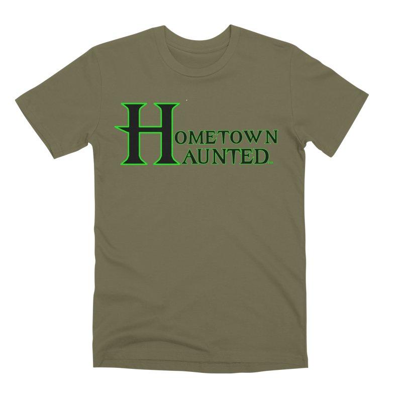 Hometown Haunted (Black) Men's Premium T-Shirt by DesignsbyAnvilJames's Artist Shop