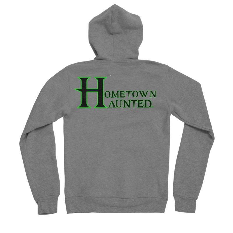 Hometown Haunted (Black) Men's Sponge Fleece Zip-Up Hoody by DesignsbyAnvilJames's Artist Shop