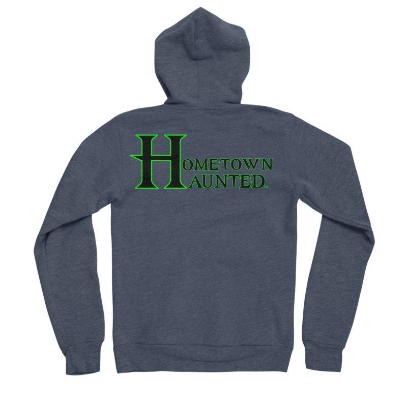 Hometown Haunted (Black) Women's Sponge Fleece Zip-Up Hoody by DesignsbyAnvilJames's Artist Shop