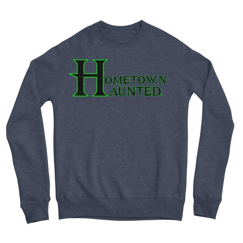 Hometown Haunted (Black) Men's Sponge Fleece Sweatshirt by DesignsbyAnvilJames's Artist Shop