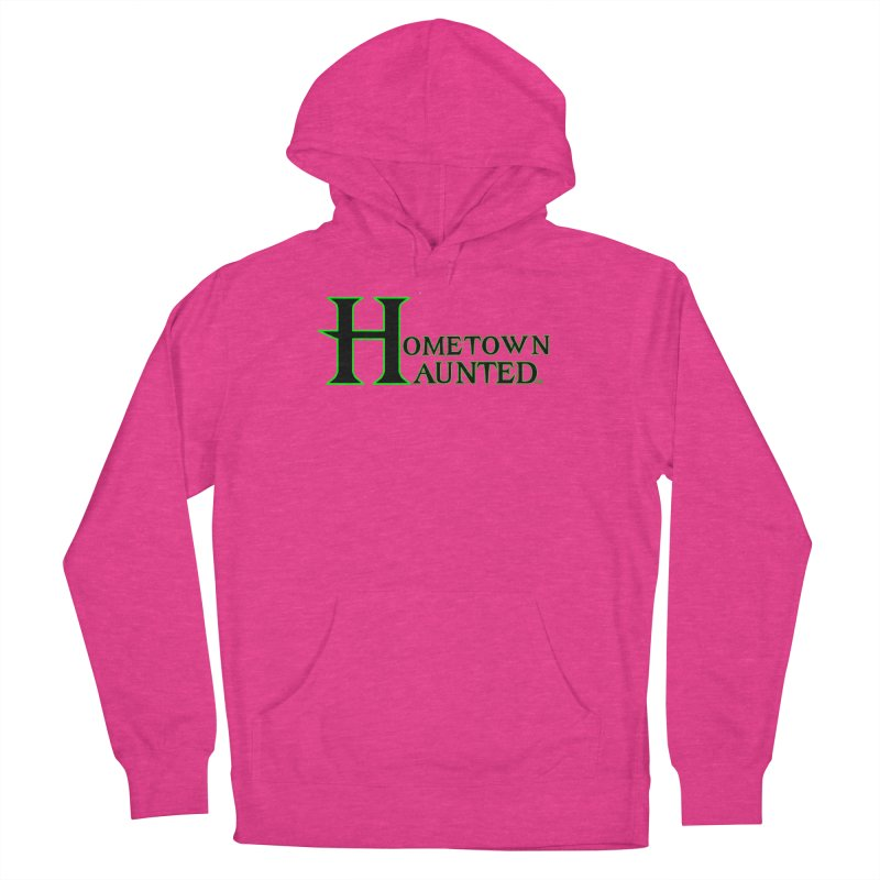 Hometown Haunted (Black) Men's French Terry Pullover Hoody by DesignsbyAnvilJames's Artist Shop