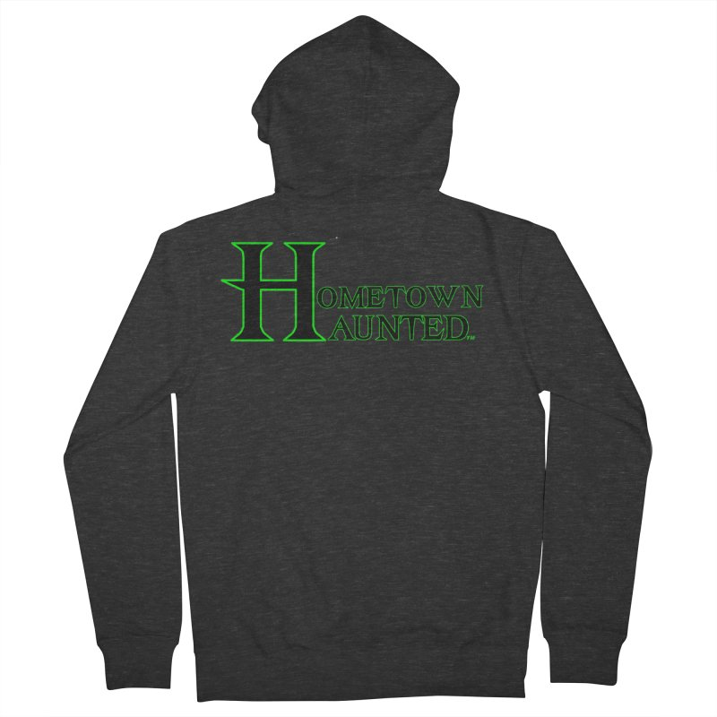 Hometown Haunted (Black) Women's French Terry Zip-Up Hoody by DesignsbyAnvilJames's Artist Shop