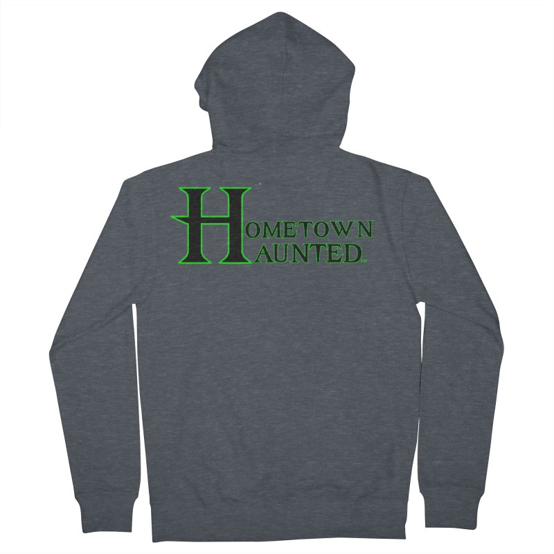 Hometown Haunted (Black) Men's Zip-Up Hoody by DesignsbyAnvilJames's Artist Shop