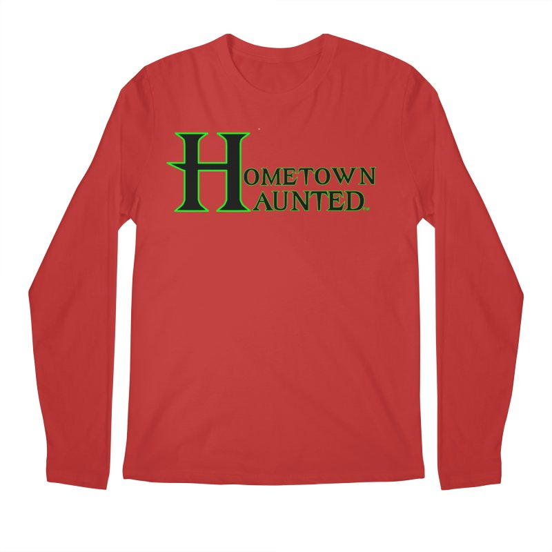 Hometown Haunted (Black) Men's Regular Longsleeve T-Shirt by DesignsbyAnvilJames's Artist Shop