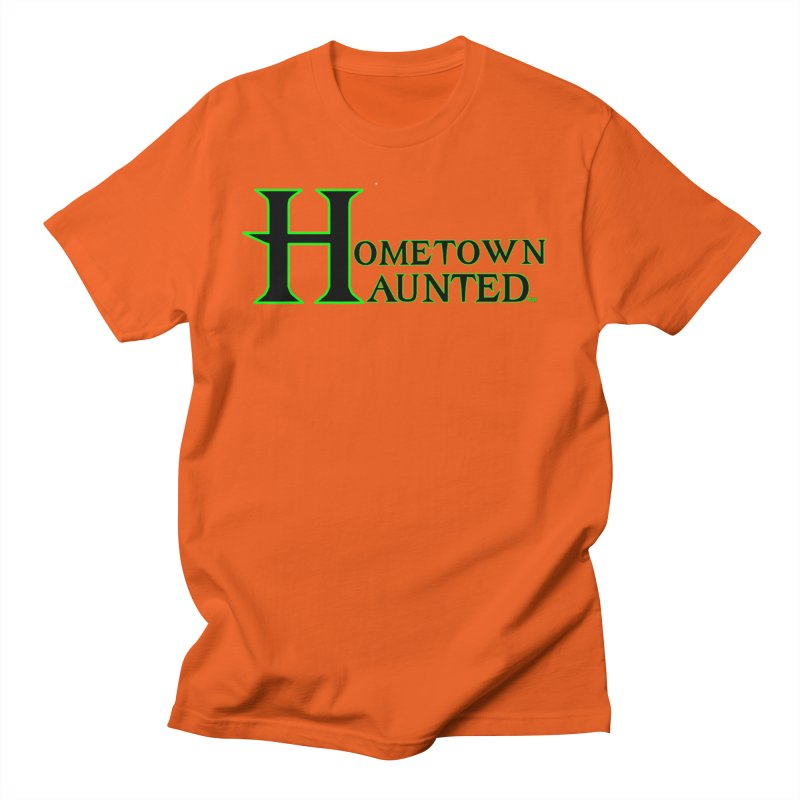Hometown Haunted (Black) Men's T-Shirt by DesignsbyAnvilJames's Artist Shop