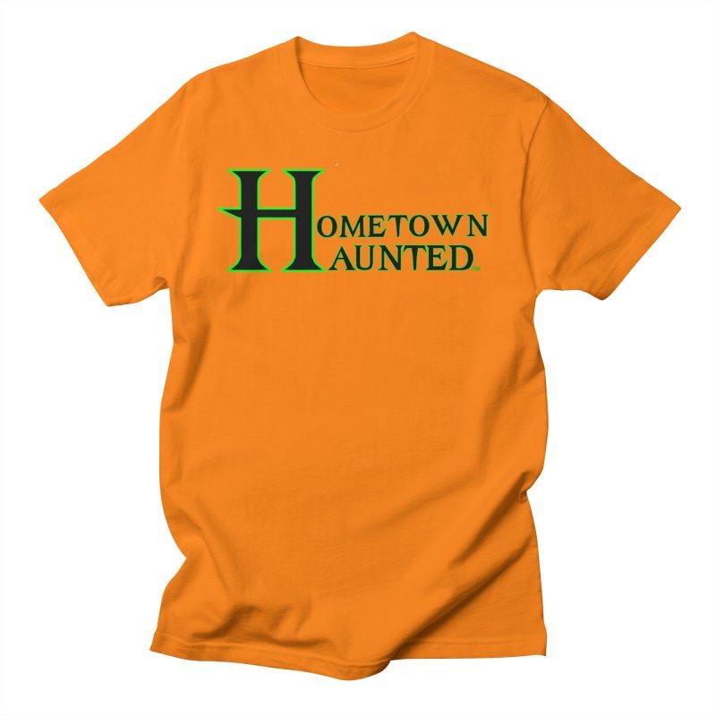 Hometown Haunted (Black) Men's Regular T-Shirt by DesignsbyAnvilJames's Artist Shop