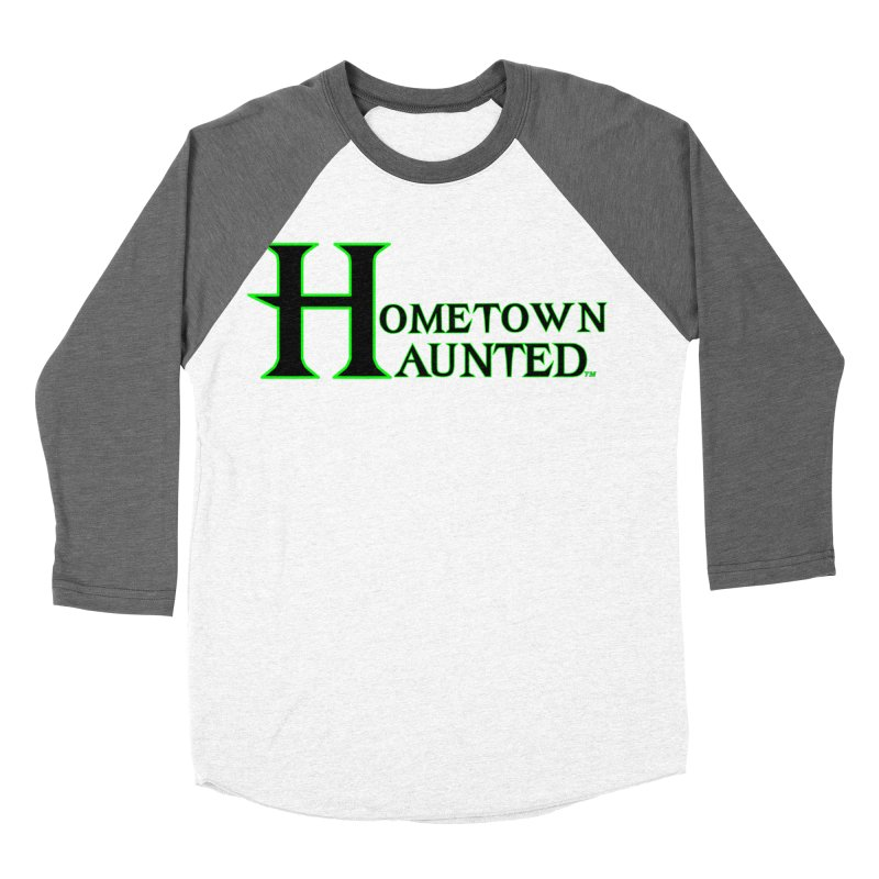 Hometown Haunted (Black) Men's Baseball Triblend Longsleeve T-Shirt by DesignsbyAnvilJames's Artist Shop
