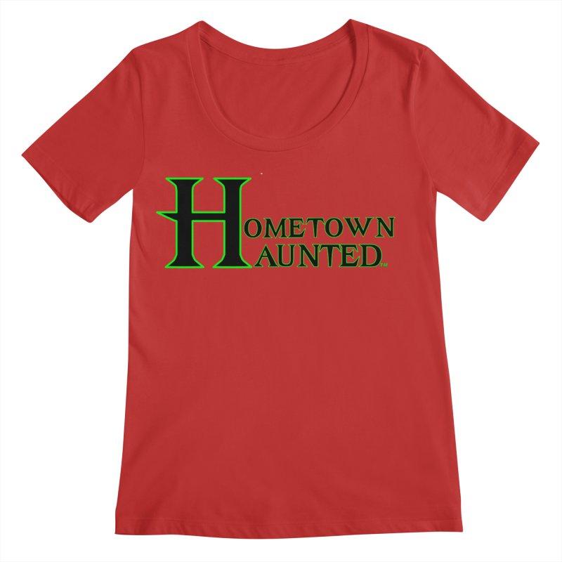Hometown Haunted (Black) Women's Regular Scoop Neck by DesignsbyAnvilJames's Artist Shop