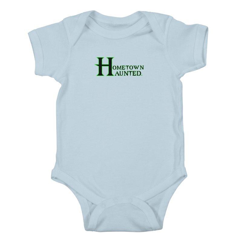Hometown Haunted (Black) Kids Baby Bodysuit by DesignsbyAnvilJames's Artist Shop