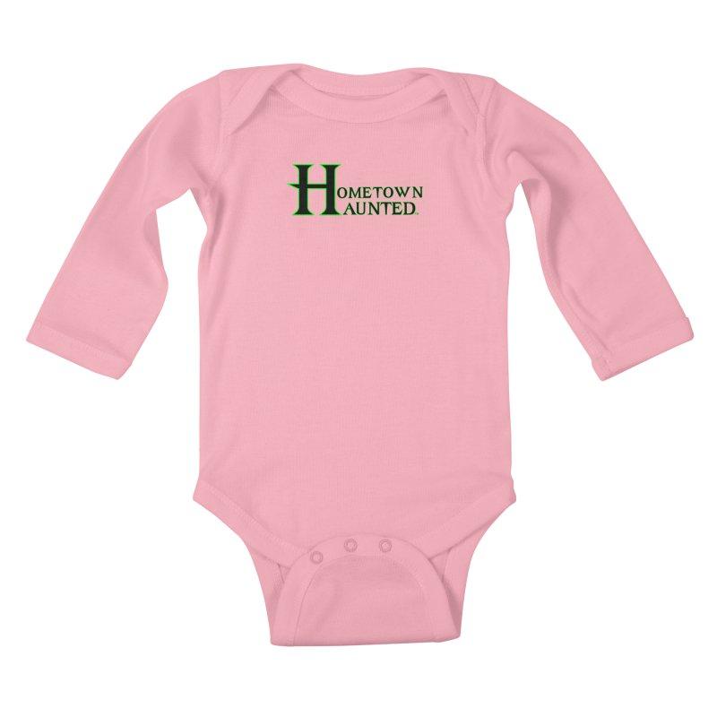 Hometown Haunted (Black) Kids Baby Longsleeve Bodysuit by DesignsbyAnvilJames's Artist Shop