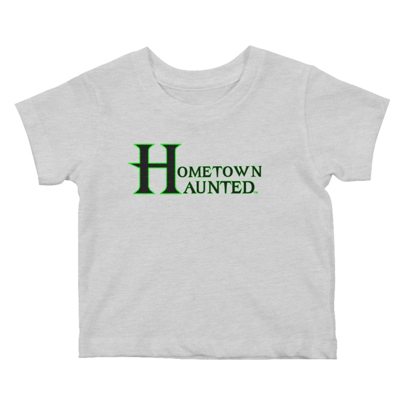 Hometown Haunted (Black) Kids Baby T-Shirt by DesignsbyAnvilJames's Artist Shop