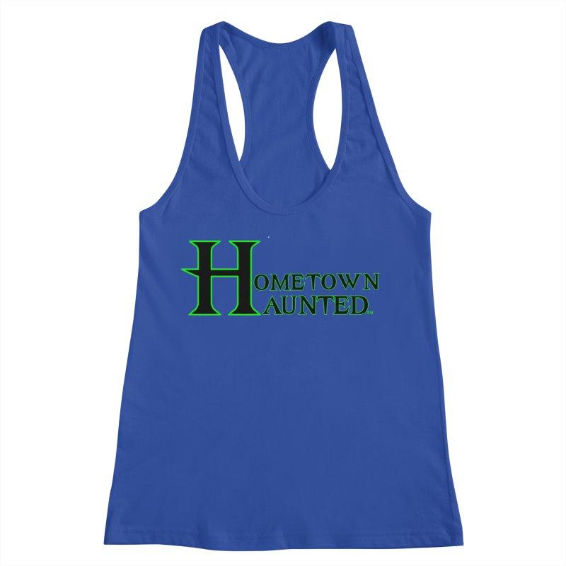 Hometown Haunted (Black) Women's Racerback Tank by DesignsbyAnvilJames's Artist Shop