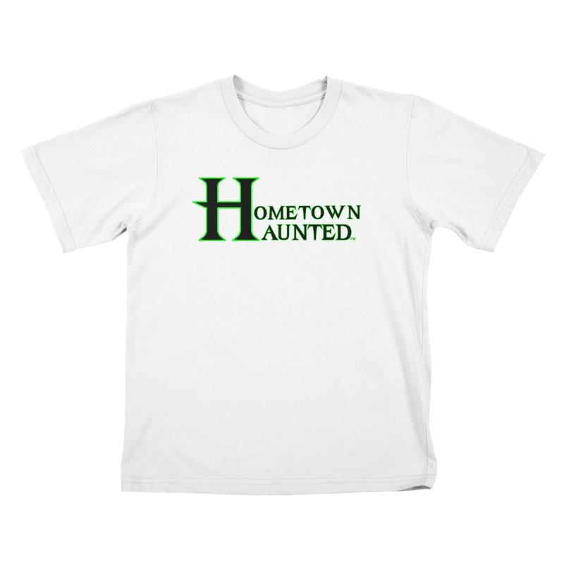 Hometown Haunted (Black) Kids T-Shirt by DesignsbyAnvilJames's Artist Shop