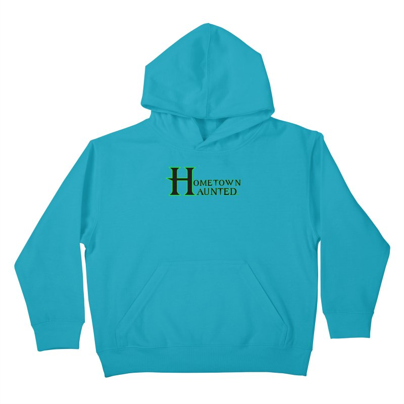 Hometown Haunted (Black) Kids Pullover Hoody by DesignsbyAnvilJames's Artist Shop