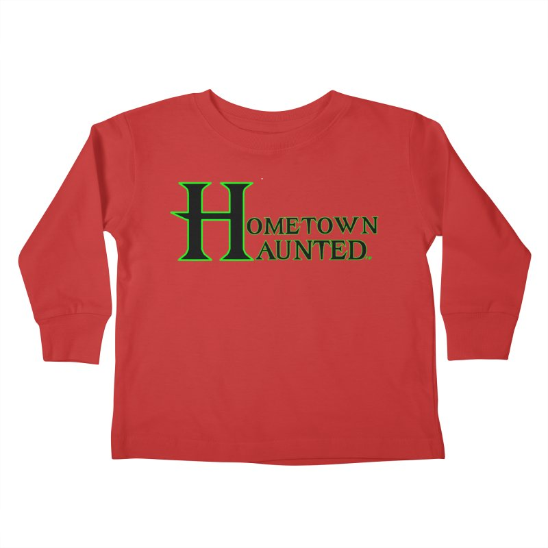 Hometown Haunted (Black) Kids Toddler Longsleeve T-Shirt by DesignsbyAnvilJames's Artist Shop