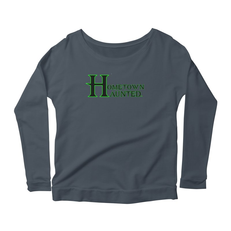 Hometown Haunted (Black) Women's Scoop Neck Longsleeve T-Shirt by DesignsbyAnvilJames's Artist Shop