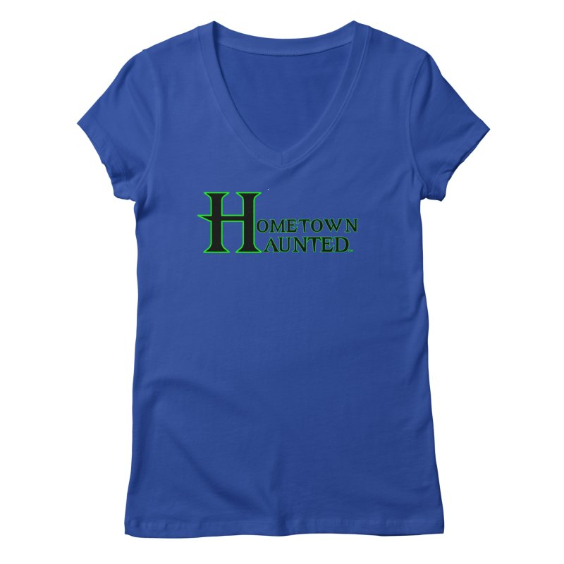 Hometown Haunted (Black) Women's Regular V-Neck by DesignsbyAnvilJames's Artist Shop