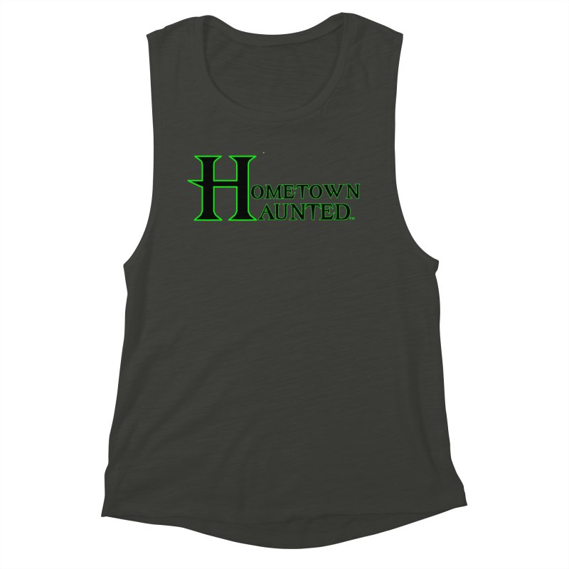 Hometown Haunted (Black) Women's Muscle Tank by DesignsbyAnvilJames's Artist Shop