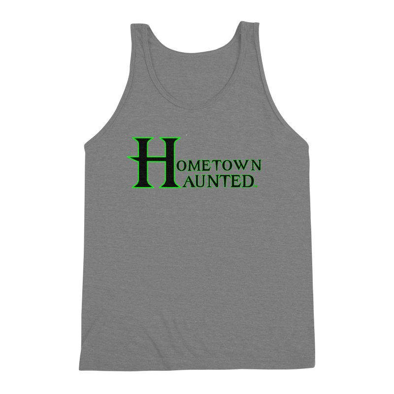 Hometown Haunted (Black) Men's Triblend Tank by DesignsbyAnvilJames's Artist Shop