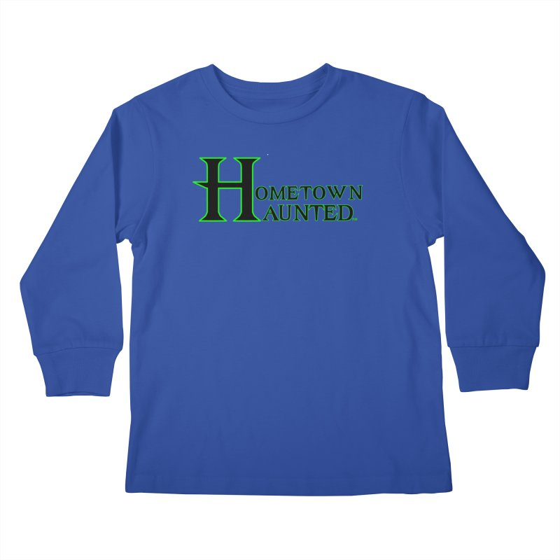 Hometown Haunted (Black) Kids Longsleeve T-Shirt by DesignsbyAnvilJames's Artist Shop