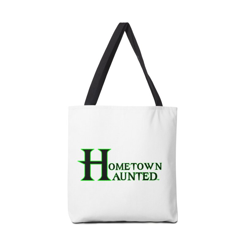 Hometown Haunted (Black) Accessories Tote Bag Bag by DesignsbyAnvilJames's Artist Shop