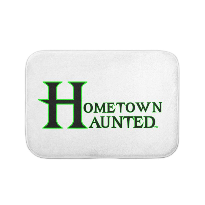 Hometown Haunted (Black) Home Bath Mat by DesignsbyAnvilJames's Artist Shop