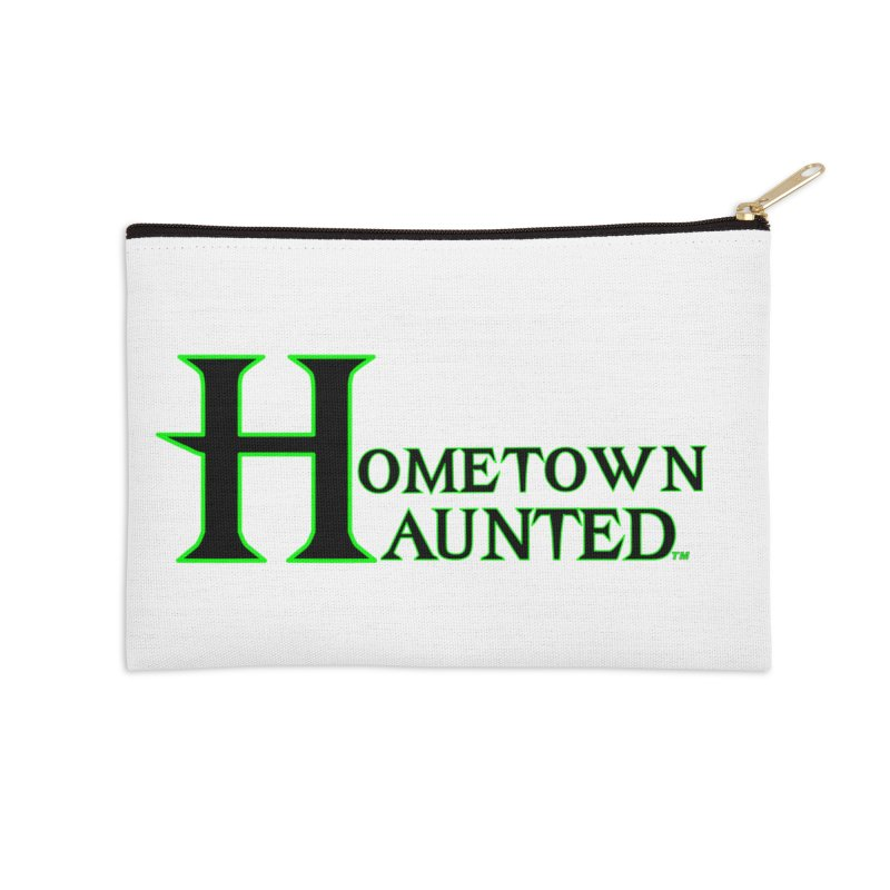 Hometown Haunted (Black) Accessories Zip Pouch by DesignsbyAnvilJames's Artist Shop
