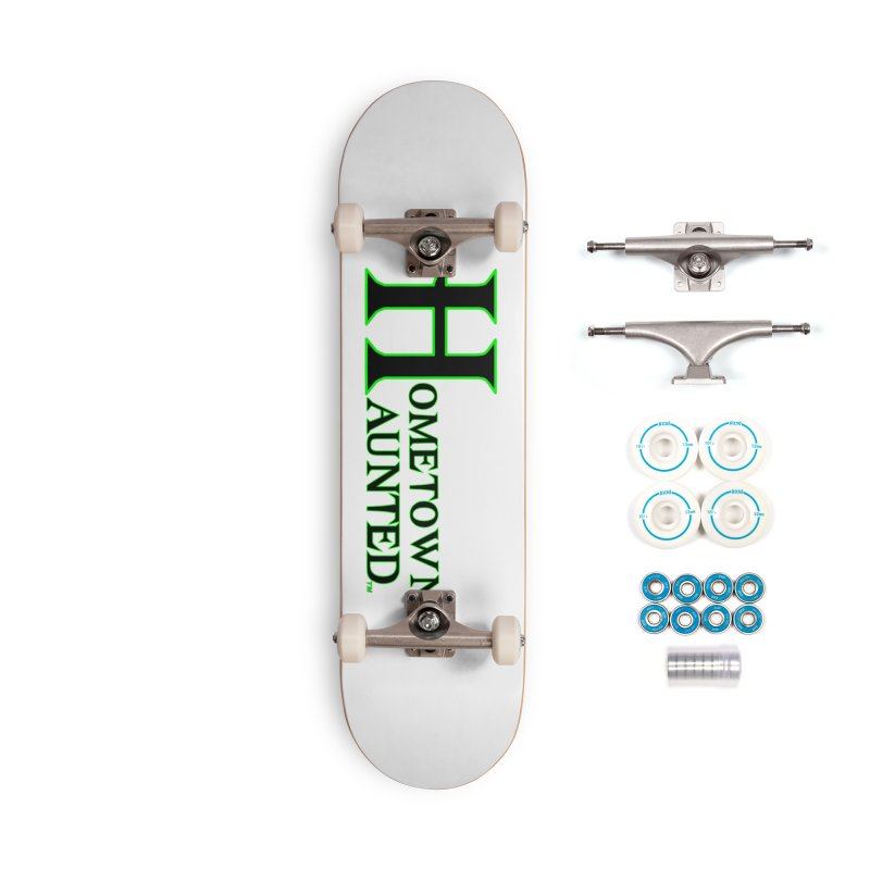 Hometown Haunted (Black) Accessories Complete - Basic Skateboard by DesignsbyAnvilJames's Artist Shop