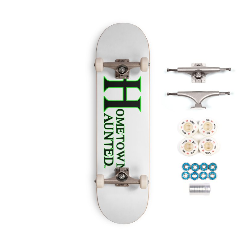Hometown Haunted (Black) Accessories Complete - Premium Skateboard by DesignsbyAnvilJames's Artist Shop