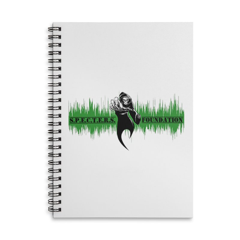 SPECTERS v2 Accessories Lined Spiral Notebook by DesignsbyAnvilJames's Artist Shop