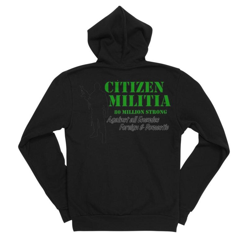 Citizen Militia Men's Sponge Fleece Zip-Up Hoody by DesignsbyAnvilJames's Artist Shop