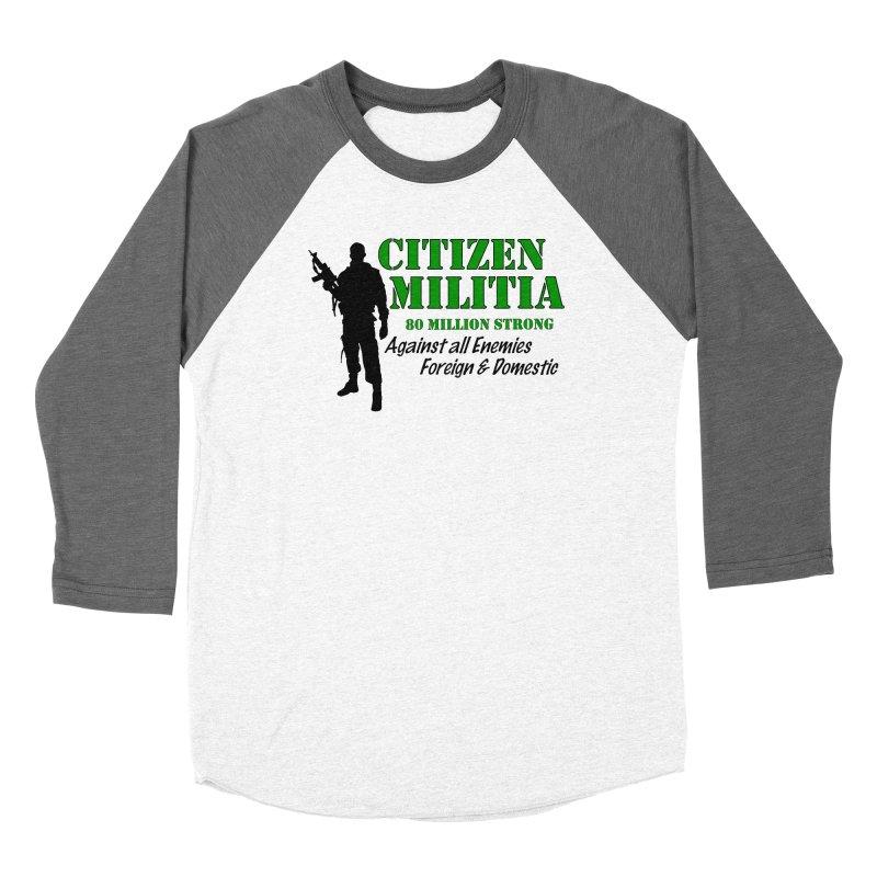 Citizen Militia Women's Baseball Triblend Longsleeve T-Shirt by DesignsbyAnvilJames's Artist Shop