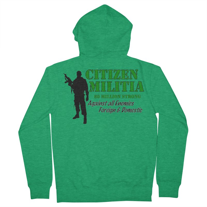 Citizen Militia Women's French Terry Zip-Up Hoody by DesignsbyAnvilJames's Artist Shop