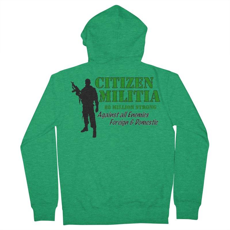 Citizen Militia Men's Zip-Up Hoody by DesignsbyAnvilJames's Artist Shop