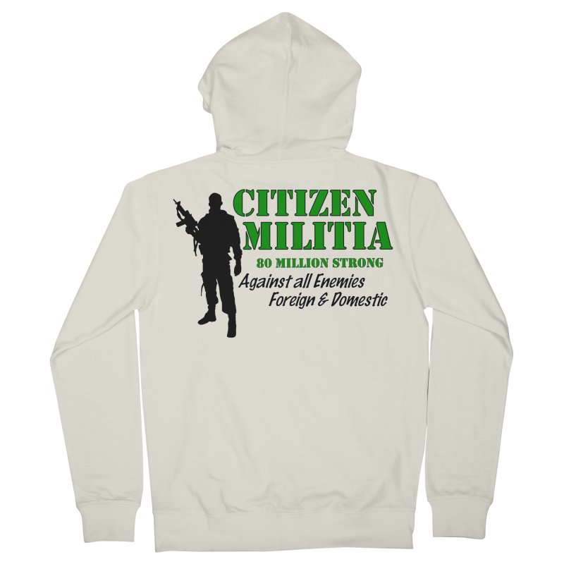 Citizen Militia Men's French Terry Zip-Up Hoody by DesignsbyAnvilJames's Artist Shop