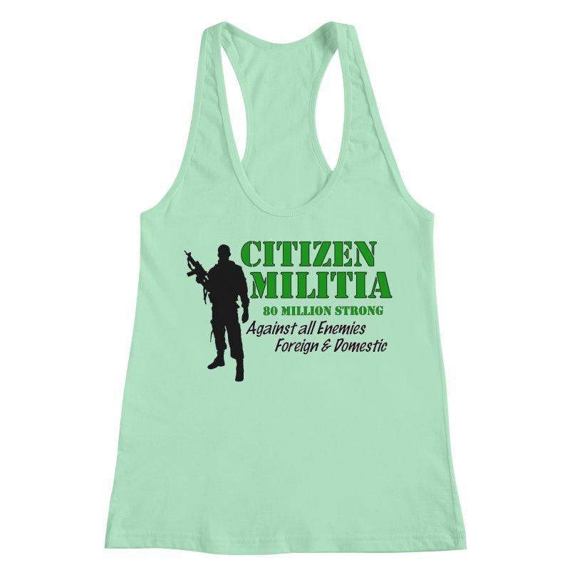 Citizen Militia Women's Racerback Tank by DesignsbyAnvilJames's Artist Shop