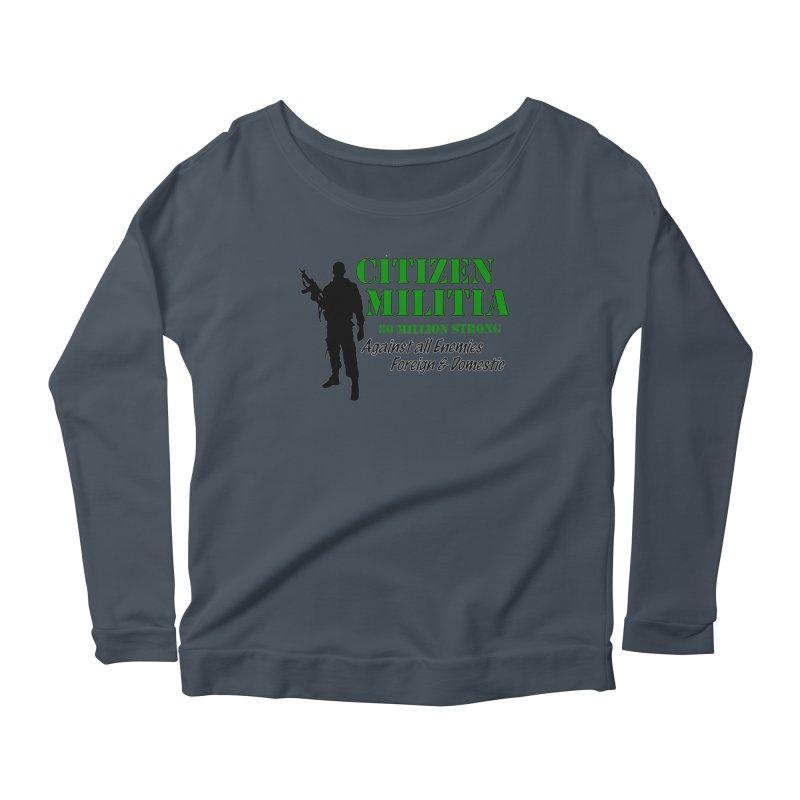 Citizen Militia Women's Scoop Neck Longsleeve T-Shirt by DesignsbyAnvilJames's Artist Shop