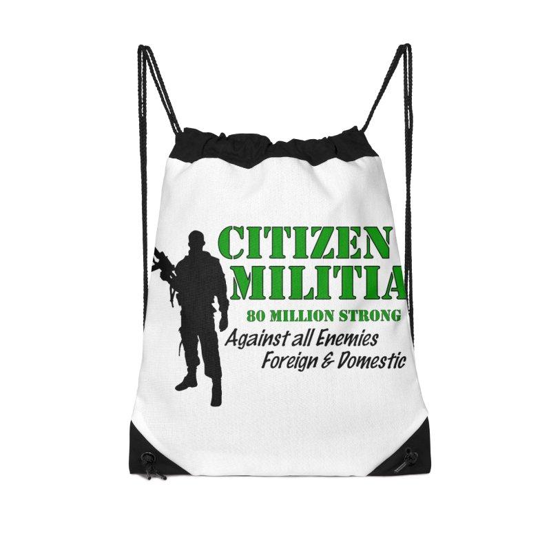 Citizen Militia Accessories Drawstring Bag Bag by DesignsbyAnvilJames's Artist Shop