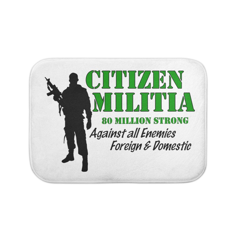 Citizen Militia Home Bath Mat by DesignsbyAnvilJames's Artist Shop