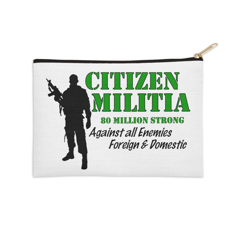 Citizen Militia Accessories Zip Pouch by DesignsbyAnvilJames's Artist Shop