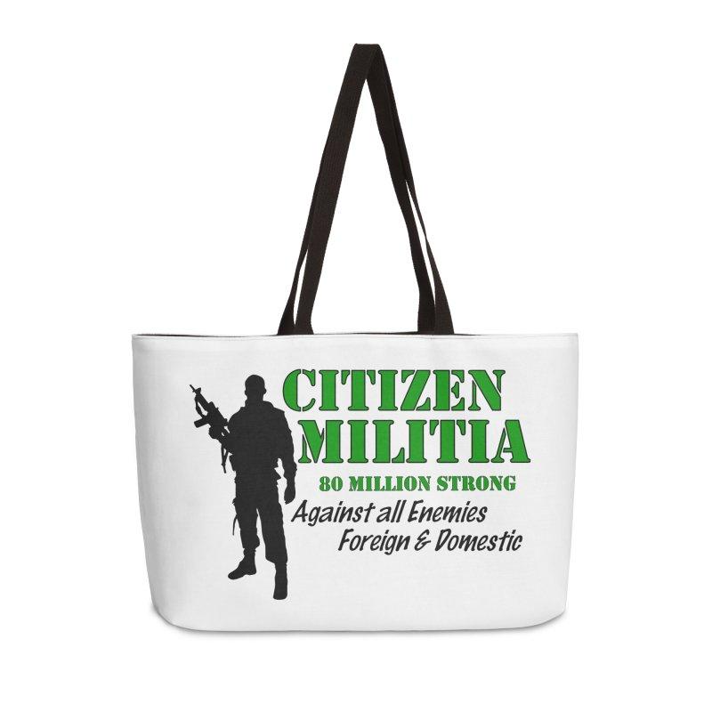 Citizen Militia Accessories Weekender Bag Bag by DesignsbyAnvilJames's Artist Shop