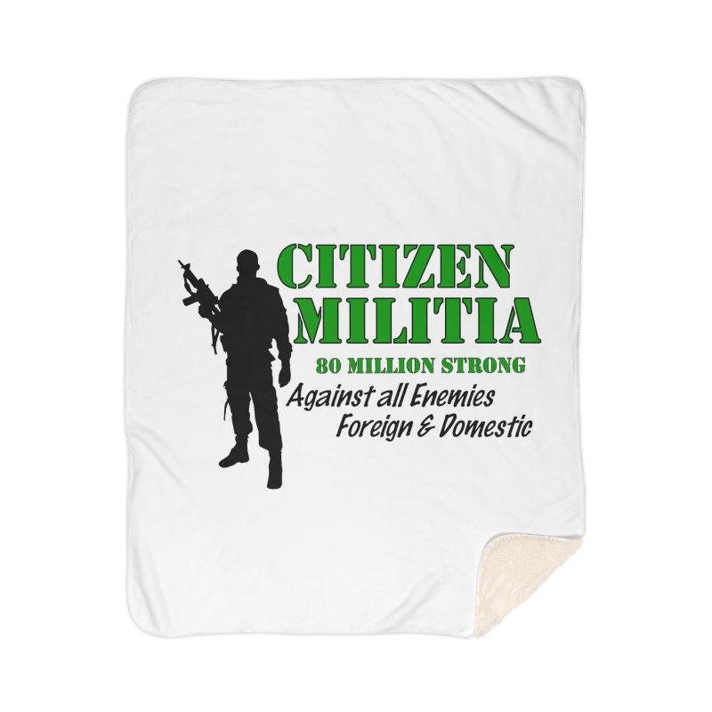 Citizen Militia Home Sherpa Blanket Blanket by DesignsbyAnvilJames's Artist Shop