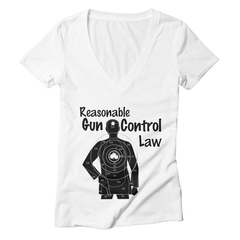 Reasonable Laws Women's Deep V-Neck V-Neck by DesignsbyAnvilJames's Artist Shop